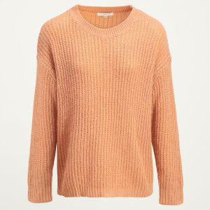 Gebreide oversized peach trui, oversized sweaters