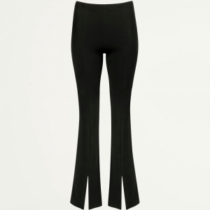 Zwarte flared pants met split