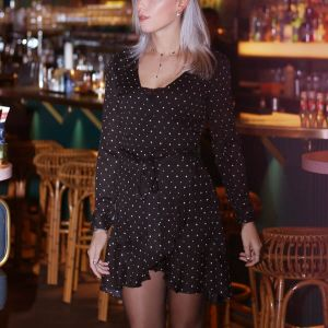 Longsleeve Star Wrap Dress