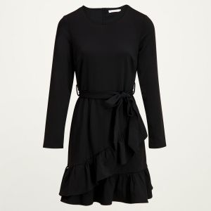 Overslag sweater jurk, overslagjurkjes