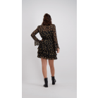 Leopard Figure Layer Dress - Black