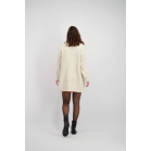 Beige Long Cardigan with Dots