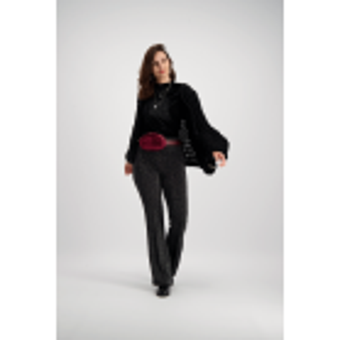 Black Knitted Cardigan Puff Sleeve
