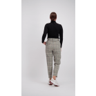 Grey/Beige Checked Pantalon