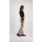 Sequin Snake Flared Pants