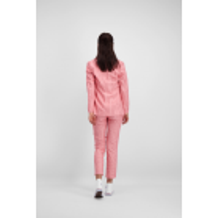 Roze blazer krijtstreep