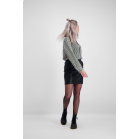 Zwarte rok leatherlook