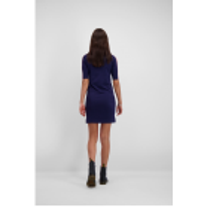 Donkerblauwe sweater jurk