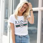 My Jewellery T-shirt tekst iconic print wit groen