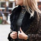 My Jewellery Stola faux fur zwart