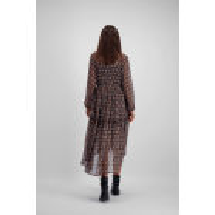 Lange jurk paisley, bohemian jurk - styleshoots afbeelding - achterzijde