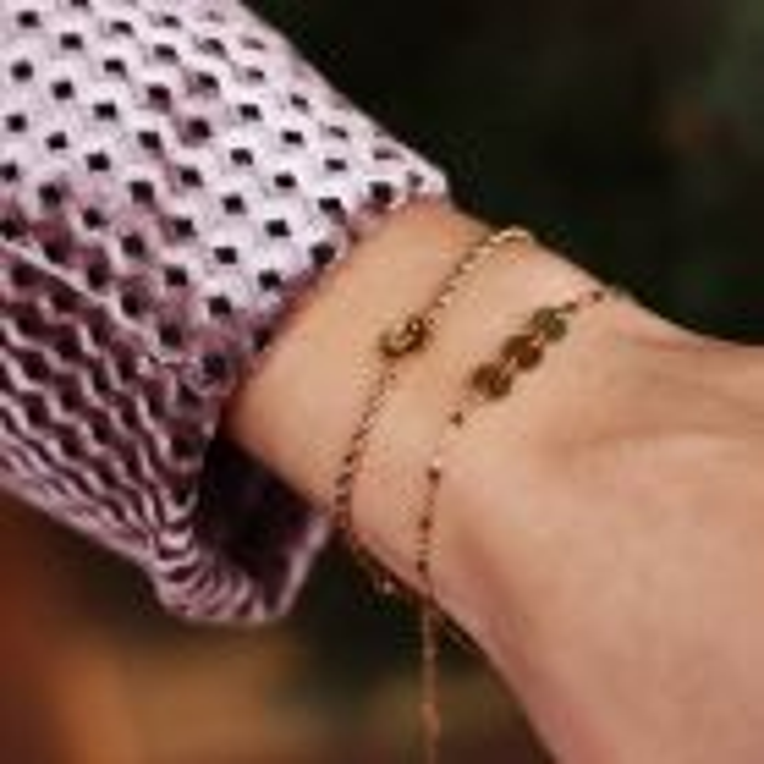 Armband Hanger Letter Goud, Initialen Armband