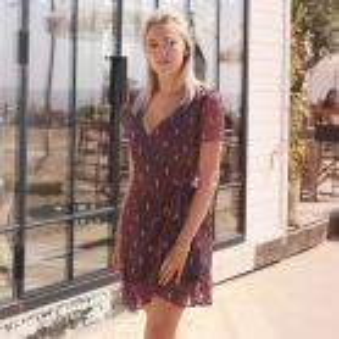 Overslag jurk bohemian