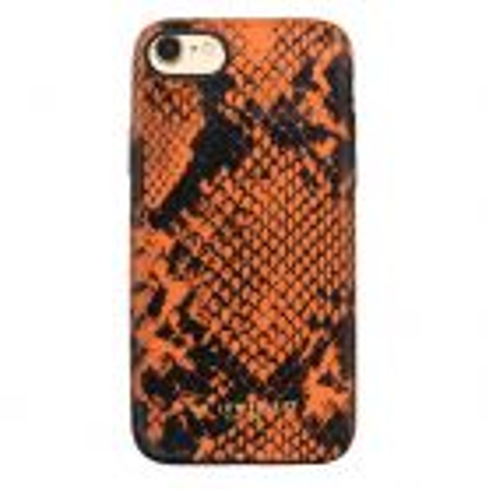 Telefoonhoesje Slangenprint Oranje, iphonehoes