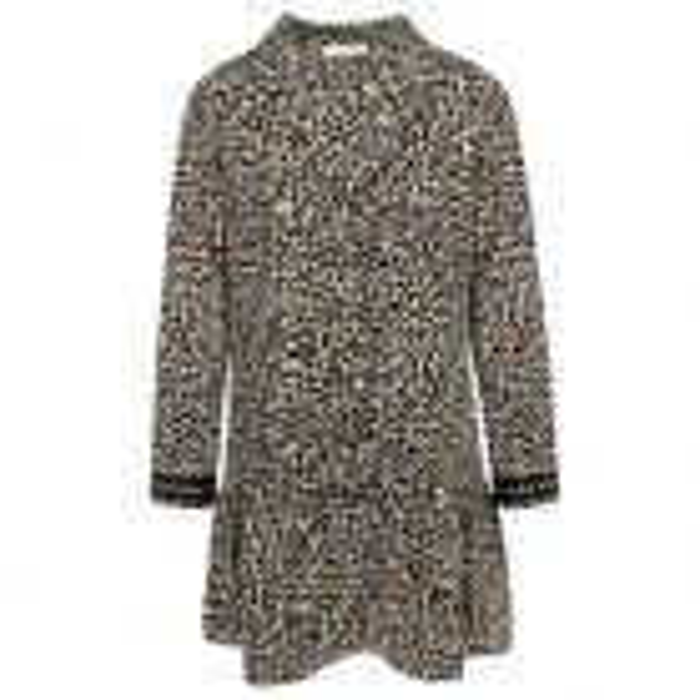 Grijze wijdvallende luipaard jurk, dierenprint jurk My Jewellery