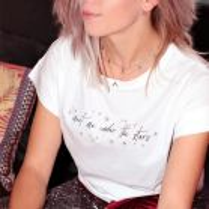 Wit t-shirt met tekst en sterren, My Jewellery
