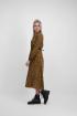 Bruine midi jurk met luipaard print, dierenprint jurk - styleshoots afbeelding - zijkant