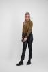 Bruine overslag blouse luipaard, blouse met print - styleshoots afbeelding - voorzijde