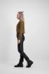 Bruine overslag blouse luipaard, blouse met print - styleshoots afbeelding - zijkant