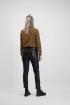 Bruine overslag blouse luipaard, blouse met print - styleshoots afbeelding - achterzijde