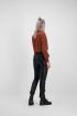 Rode overslag blouse luipaard, blouse met print - styleshoots afbeelding - achterzijde