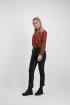 Rode overslag blouse luipaard, blouse met print - styleshoots afbeelding - voorzijde