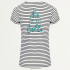T-shirt quote strepen zwart wit tekst basic, Tops