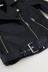 Zwarte leatherlook biker jas   Leren jasje My Jewellery