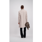 Grey Double Breasted Coat Slim Fit
