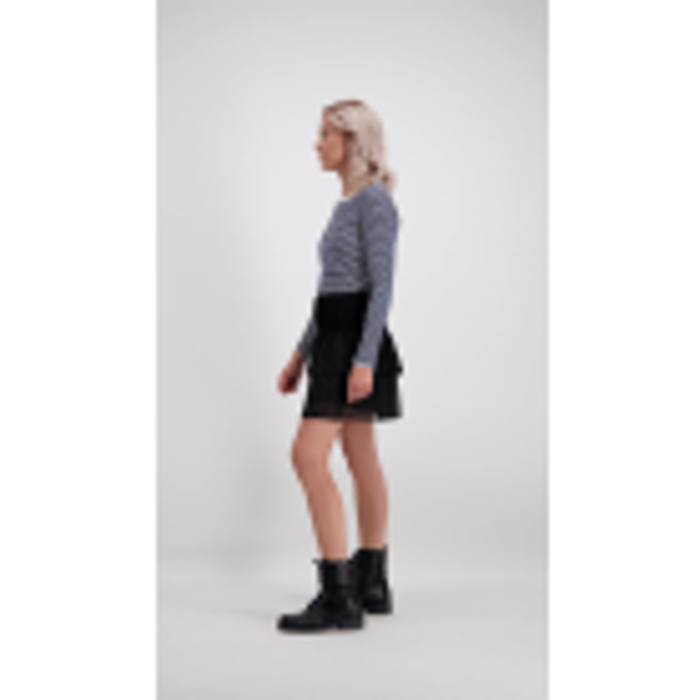 Long Sleeve Stripe Top – Dark Blue