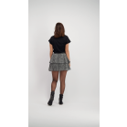 Black Double Layer Spot Skirt