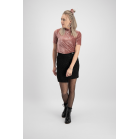 Old Pink Velvet Short Sleeve Top