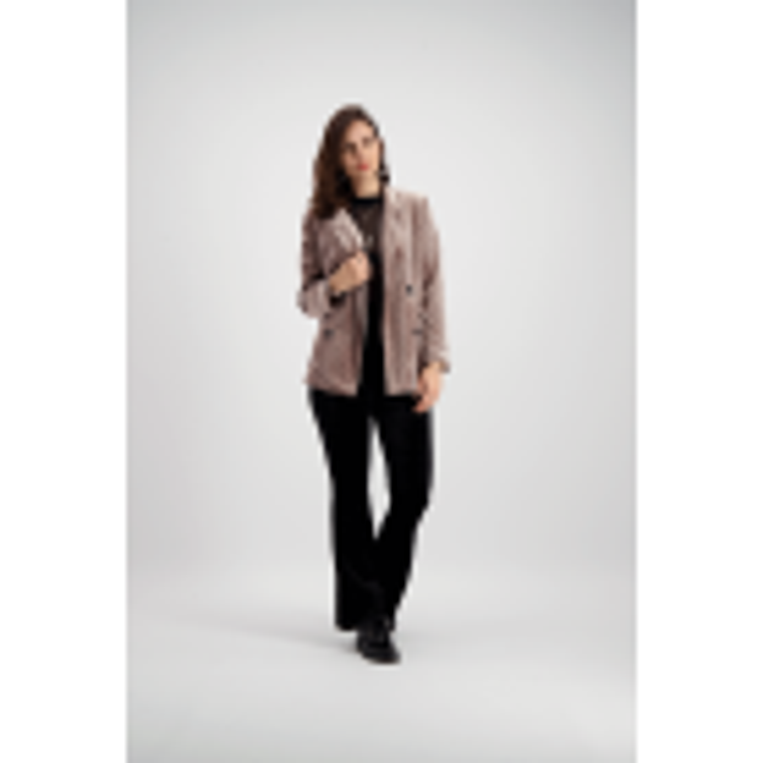 Old Pink Velvet Structured Blazer