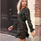 Leopard Color Dress - Dark Green