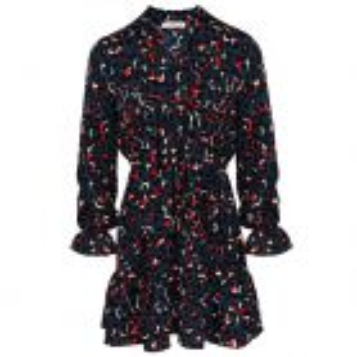 My Jewellery Overslag jurkje luipaard print donkerblauw, Jurkjes