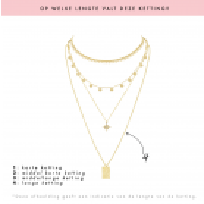 Ketting hanger roze hartjes My Jewellery