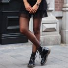 Black High Waist Dotted Tights