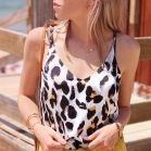 My Jewellery leopard top off white