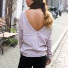 Pink Sweater Open Back