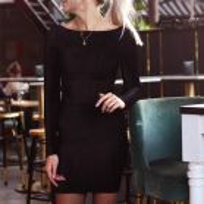 Zwarte bodycon jurk velvet