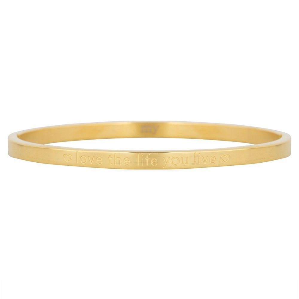 Armband quote goud