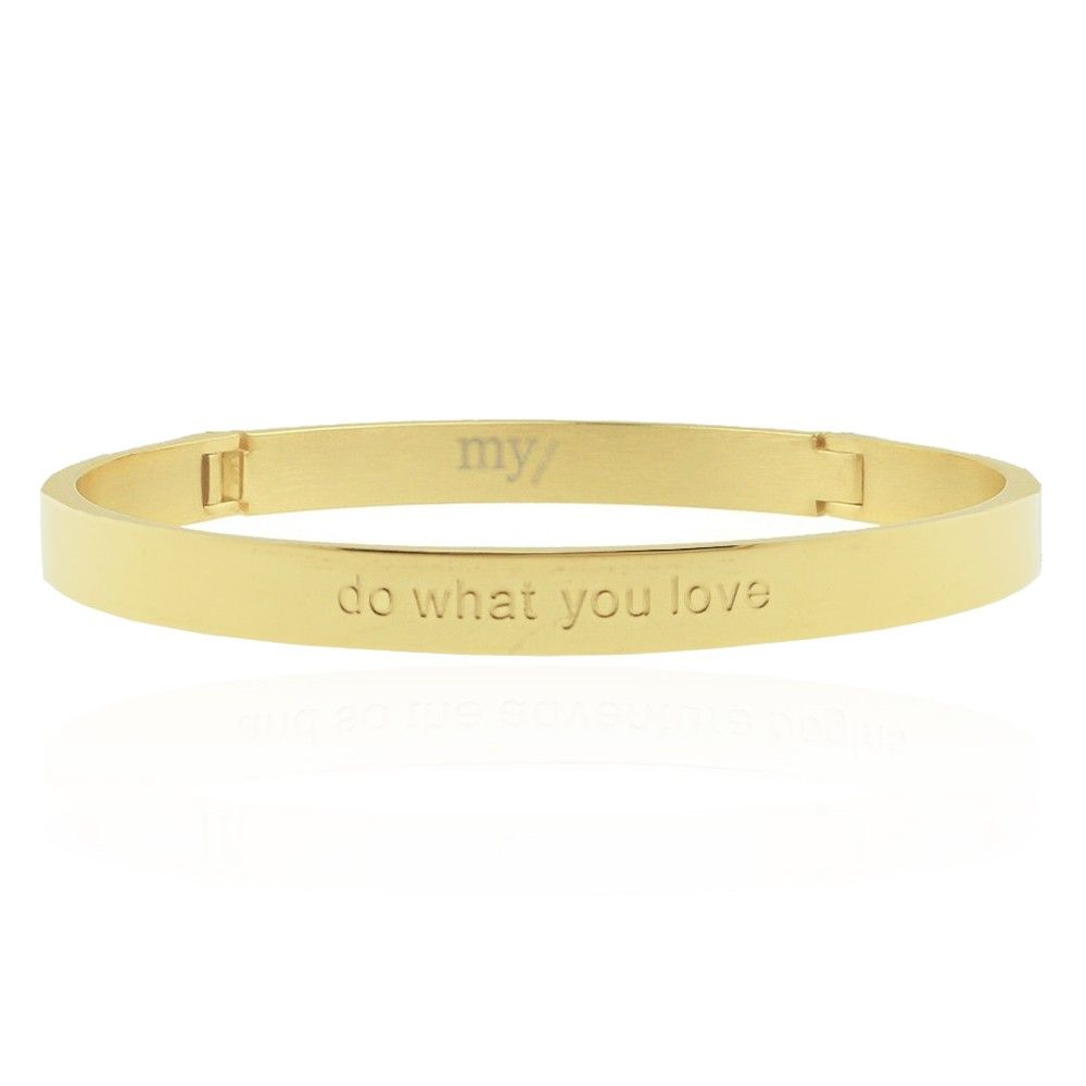 gouden quote armband