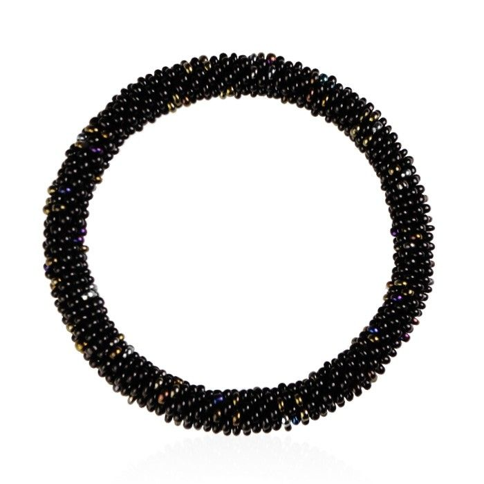Kralen armbandje zwart bruin