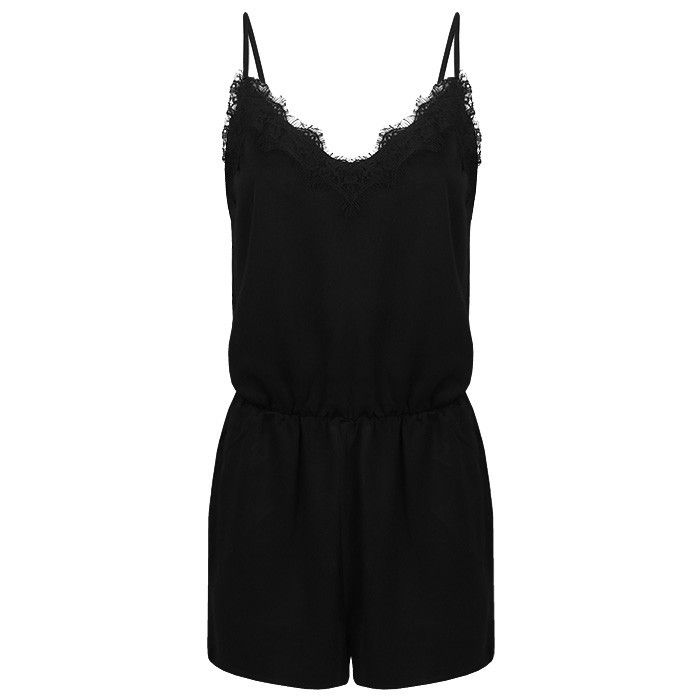 Playsuit kant zwart