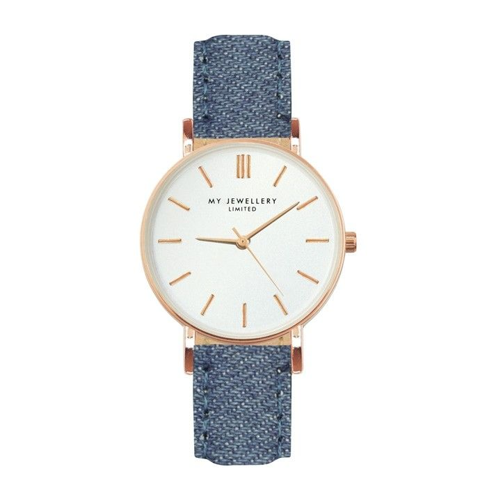My Jewellery Horloge denim band - denim watch