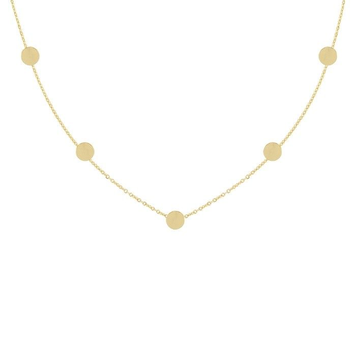 Coins ketting goud zilver