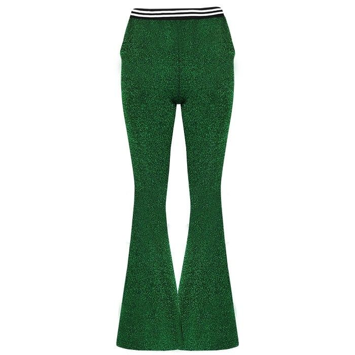 My Jewellery Flared broek glitter groen