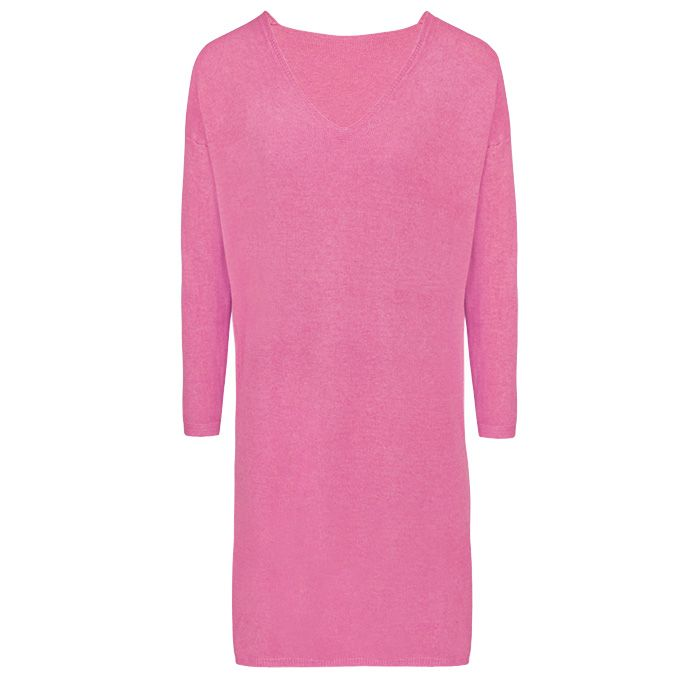 Basic Sweater Dress - Pink