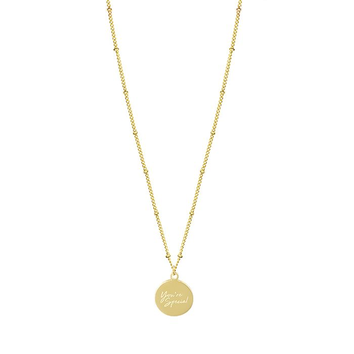 Minimalistische ketting You're Special goud My Jewellery