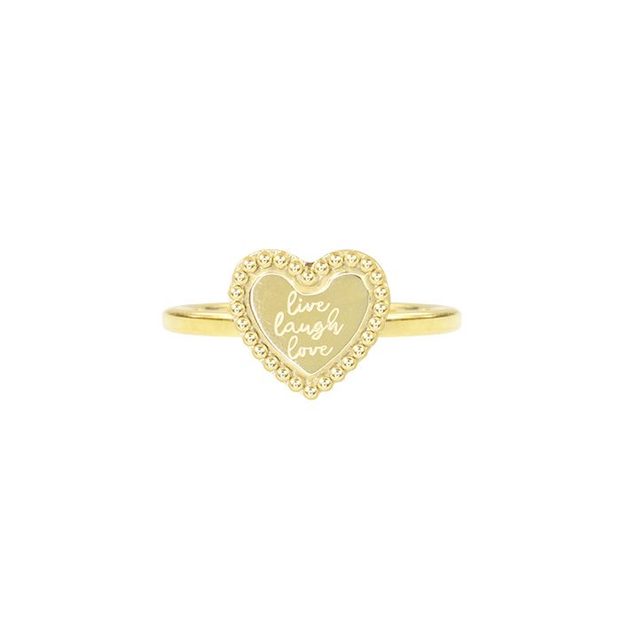 Ring Live Laugh Love goud My Jewellery
